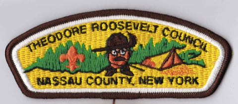 Theodore Roosevelt Council NY Brown Border Plastic Backing FDL CSP ## CSP1260