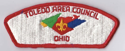 Toledo Area Council OH Red Border Lightly Glued Cloth Backing FDL CSP ## CSP1272
