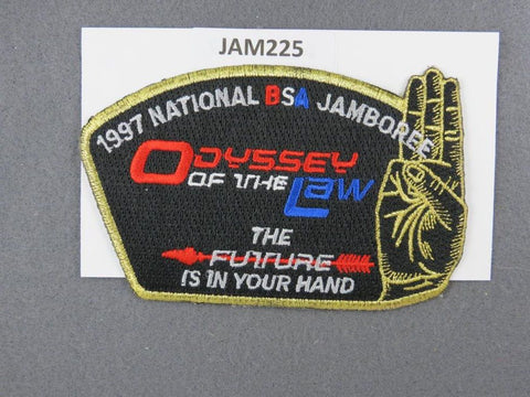 1997 National Scout Jamboree Odyssey of the Law Gold Border [JAM225]^^