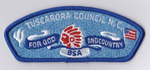 Tuscarora Council NC Blue Border Plastic Backing BSA CSP ## CSP1292