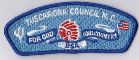 Tuscarora Council NC Blue Border Scout Stuff Backing BSA CSP ## CSP1295