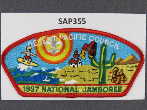 Desert Pacific Council CSP 1997 National Scout Jamboree Red Border - Scout Patch HQ