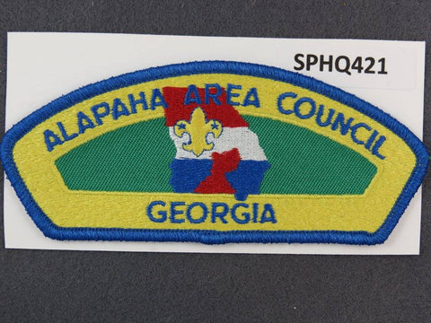 Alapaha Area Council Georgia CSP Blue Border - Scout Patch HQ