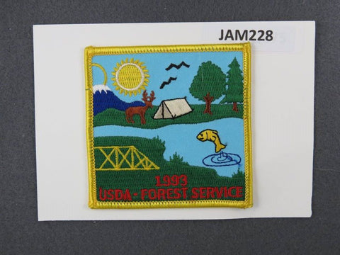 1993 National Scout Jamboree Forest Service Yellow Border [JAM228]^^