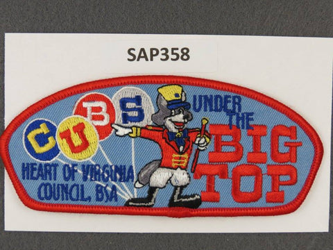 Heart of Virginia Council CSP Cubs Under The Big Top Red Border - Scout Patch HQ