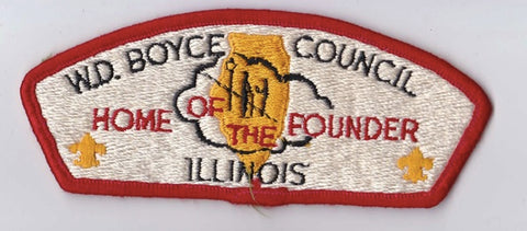 W.D. Boyce Council IL Red Border Plastic Backing FDL CSP ## CSP1335