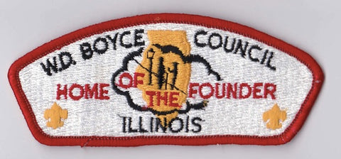 W.D. Boyce Council IL Red Border Plastic Backing FDL CSP ## CSP1336