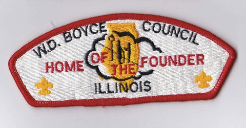 W.D. Boyce Council IL Red Border Plastic Backing FDL CSP ## CSP1337