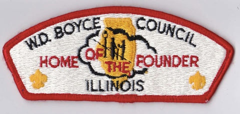 W.D. Boyce Council IL Red Border Plastic Backing FDL CSP ## CSP1339