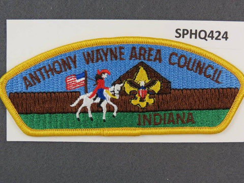 Anthony Wayne Area Council Indiania CSP Yellow Border - Scout Patch HQ