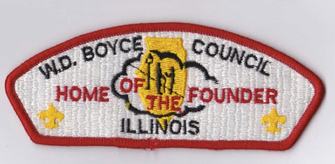 W.D. Boyce Council IL Red Border Scout Stuff Backing FDL CSP ## CSP1340