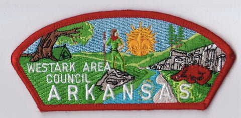 Westark Area Council AR Red Border Plastic Backing FDL CSP ## CSP1344