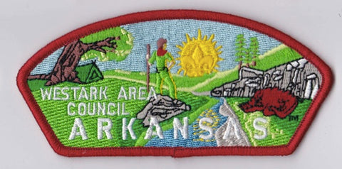 Westark Area Council AR Red Border Plastic Backing FDL CSP ## CSP1345