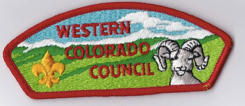 Western Colorado Council CO Red Border Plastic Backing FDL CSP ## CSP1355