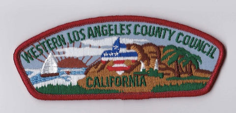 Western Los Angeles County Council CA Red Border Scout Stuff Backing FDL CSP ## CSP1360