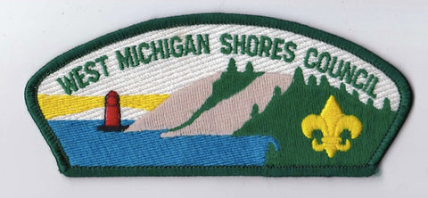 West Michigan Shores Council MI Green Border Plastic Backing FDL CSP  ## CSP1365
