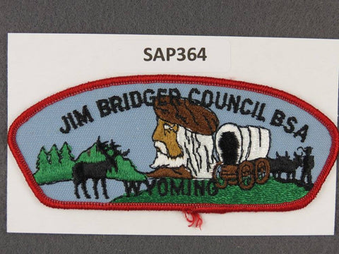 Jim Bridger Council Wyoming CSP Red Border - Scout Patch HQ