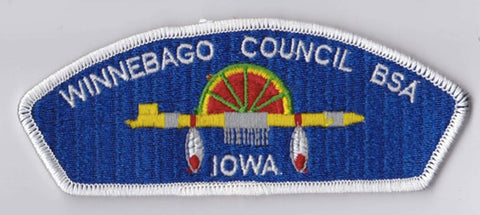 Winnebago Council IA White Border Scout Stuff Backing BSA CSP ## CSP1375
