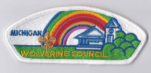Wolverine Council MI White Border Plastic Backing FDL CSP ## CSP1378