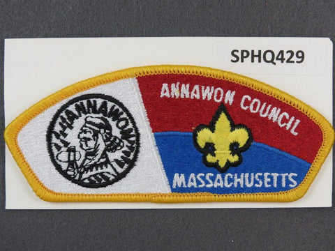 Annawon Council Massachusetts CSP Gold Border - Scout Patch HQ