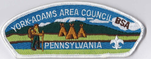 York-Adams Area Council PA White Border Plastic Backing FDL CSP ## CSP1385