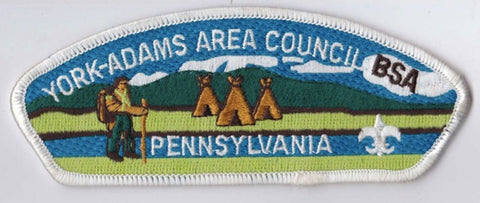 York-Adams Area Council PA White Border Plastic Backing FDL CSP ## CSP1386
