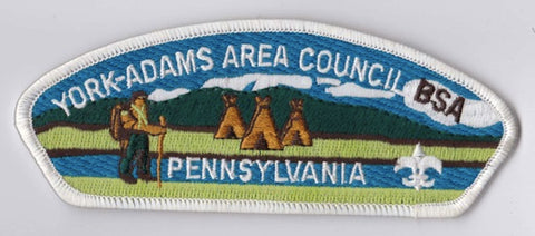 York-Adams Area Council PA White Border Scout Stuff Backing FDL CSP ## CSP1387
