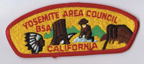 Yosemite Area Council CA Red Border Plastic Backing BSA CSP ## CSP1389