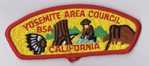 Yosemite Area Council CA Red Border Plastic Backing BSA CSP ## CSP1390