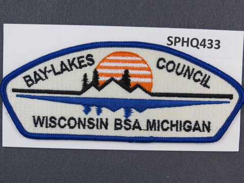 Bay Lakes Council Wisconsin Michigan CSP Blue Border - Scout Patch HQ