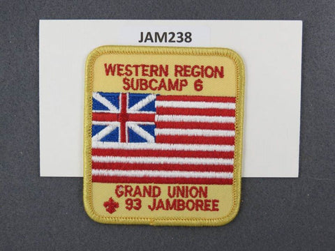 1997 National Scout Jamboree Western Region Subcamp 6 Yellow Border [JAM238]^^