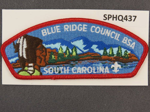 Blue Ridge Council South Carolina CSP Red Border - Scout Patch HQ