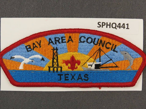 Bay Area Council Texas CSP Red Border - Scout Patch HQ