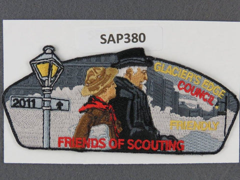 Glacier's Edge Council CSP 2011 Friends of Scouting Friendly Black Border - Scout Patch HQ