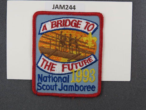 1993 National Scout Jamboree A Bridge to the Future Red Border [JAM244]^^