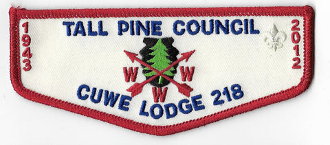 OA Lodge # 218 Cuwe F-5 flap; 1943-2012 [OAP1486]