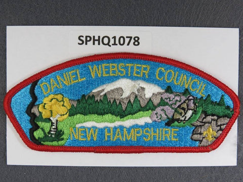 Daniel Webster Council New Hampshire CSP Red Border - Scout Patch HQ