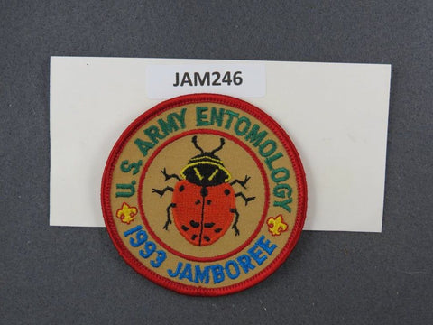 1993 National Scout Jamboree U.S. Army Entomology Red Border [JAM246]^^