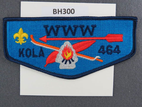 OA Lodge # 464 Kola Flap Dark Blue Border Longs Peak  [BH300]**