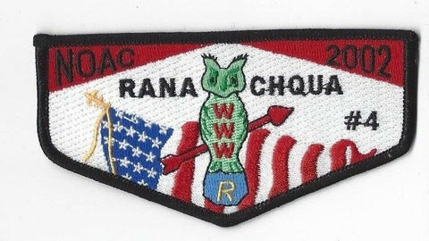 OA Lodge 4 Ranachqua S27 Flap Black Border Greater NY, The Bronx Cncl. (GNY133)