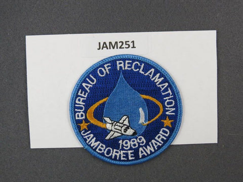 1989 National Scout Jamboree Bureau of Reclamtion Blue Border [JAM251]^^