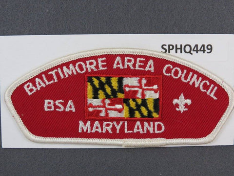 Baltimore Area Council Maryland CSP White Border - Scout Patch HQ
