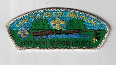 Soutwest Georgia Council SAP TA-4 Camp Osborn 50th Ann. GRY Bdr. (CSI $35-40) Al