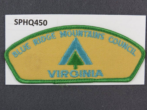 Blue Ridge Mountains Council Virginia CSP Green Border - Scout Patch HQ