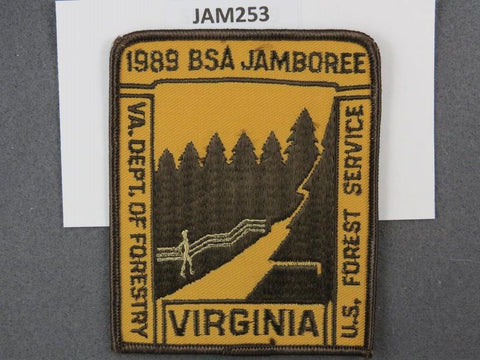 1989 National Scout Jamboree Viginia Department of Forestry Brown Border [JAM253]^^