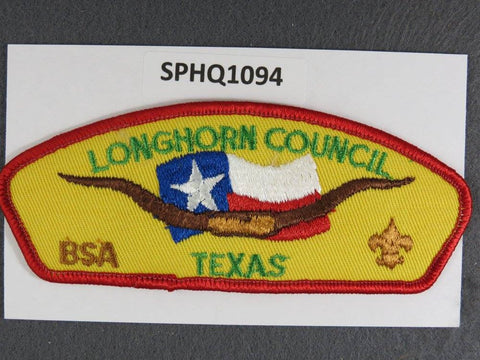 Longhorn Council Texas CSP Red Border - Scout Patch HQ