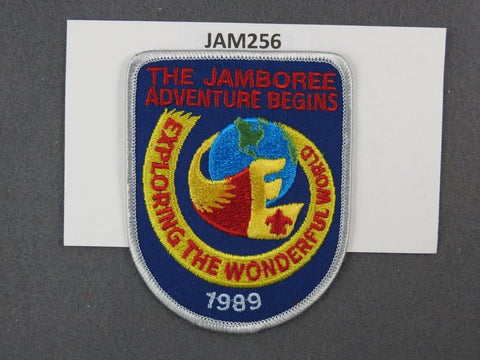 1989 National Scout Jamboree Exploring the Wonderful World Silver Border [JAM256]^^
