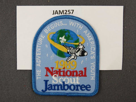 1989 National Scout Jamboree The Adventure Begins… With America's Youth Blue Border [JAM257]^^