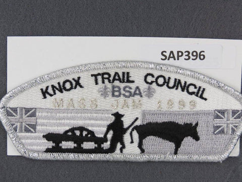 Knox Trail Council CSP 1999 Mass Jam Silver Mylar Border - Scout Patch HQ
