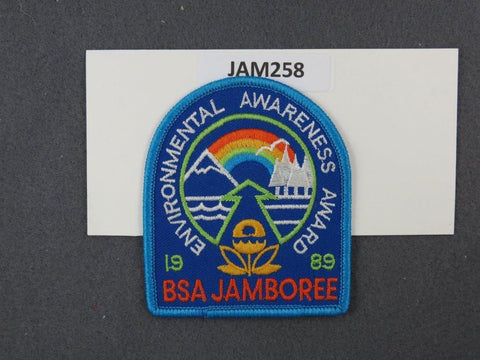 1989 National Scout Jamboree Enviornmenal Awareness Award Blue Border [JAM258]^^